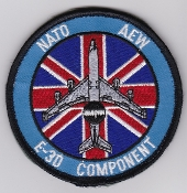 RAF Patch 8 Squadron Royal Air Force NATO AEW E 3D AWACS Velcro