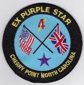 RAF Patch 4 Squadron Exercise Purple Star 1996 Flight Patch