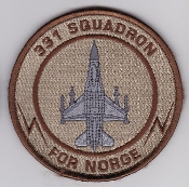 RNoAF Patch Royal Norwegian Air Force 331 Skv Squadron F 16 Afg