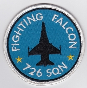RDAF Patch Royal Danish Air Force 726 Esk Squadron F 16 Aalborg