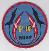 RDAF Patch Royal Danish Air Force 723 Esk Squadron F 16 Aalborg
