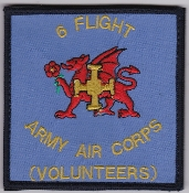 Army Air Corps AAC Flt Patch 6 Flight Volunteers 2001 Velcro
