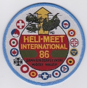 Army Air Corps AAC T Patch 1986 Heli Meet International