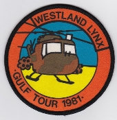 Army Air Corps AAC T Patch 1981 Westland Lynx Gulf Tour