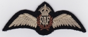 RAF Patch Wings Pilot Royal Air Force Kings Crown 1940 Patch 1