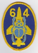 RAF Patch 64 Squadron Scarab Patch Reserve Sqn For 228 OCU F-4