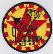 RAF Patch 92 Squadron Royal Air Force Red Air Phantom F-4 Patch