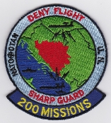 NATO Air Force Patch NATO AWACS Deny Flight 200 Missions Patch