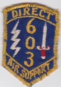USAF Patch Air Spt PAC 603 Direct Air Support Sqn FAC ALO Korea