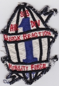 USAF Patch Cmd PAC 313 Air Division 1st Quick Reaction MF