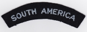 RAF Patch Nationality Title South America Patch Volunteers WWII