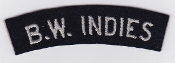 RAF Patch Nationality Title B W Indies Caribbean Volunteer WWII