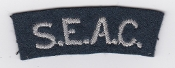 RAF Patch Nationality Title SEAC South East Asia Command WWII
