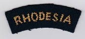 RhAF Patch Rhodesian Air Force Rhodesia Title Badge Bullion 70s