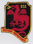 German Air Force Patch 32 Jabog F 104 Starfighter 322 Monsters