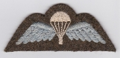 British Army Airborne Wing Patch Parachute Wing 1943 Sized Back