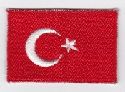 Turkish Air Force Nat ID Patch TUAF Flag Patch