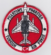 Turkish Air Force Squadron Patch TUAF Phantoms Phorever F 4