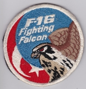 Turkish Air Force Squadron Patch TUAF F 16 Fighting Falcon Velcr