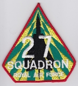 RAF Patch 27 Squadron Royal Air Force Tornado Salad Patch