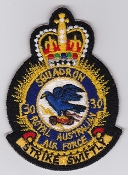RAAF Patch Sqn Royal Australian Air Force 30 Squadron Crest