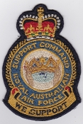 RAAF Patch Cmd Royal Australian Air Force Support Command Crest
