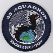 RAAF Patch Sqn Royal Australian Air Force 33 Squadron Boeing 707