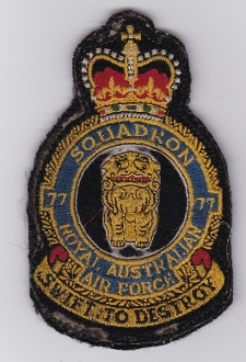 RAAF Patch Sqn Royal Australian Air Force 77 Squadron Crest