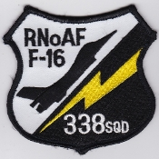RNoAF Patch Royal Norwegian Air Force 338 Skv Squadron F 16