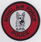 RAF Patch MP Royal Air Force Police QPD Qualified Police Dog