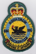 RCAF Patch Sqn Royal Canadian Air Force 880 Squadron Escadrille