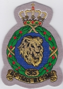 RNLAF Patch Sqn Royal Netherlands Air Force 315 Squadron Crest