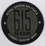 RDAF Patch Wing Royal Danish Air Force Eskadrille 615 Sqn Combat