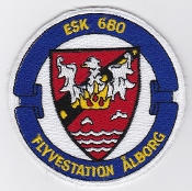 RDAF Patch Wing Royal Danish Air Force Eskadrille 680 Sqn Alborg