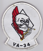 US Navy Aviation Patch Attack VA 34 Strike Squadron A6 Intruder