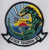 US Navy Aviation Patch Attack VA 95 Strike Squadron A 6 Intruder