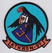 US Navy Aviation Patch Attack VA 97 ATKRON Squadron A 7 Corsair
