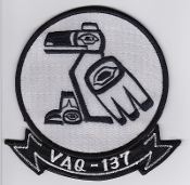 US Navy Aviation Patch Electronic Warfare VAQ 137 Squadron 1970s