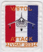US Marine Corps Aviation Training Attack VMAT 203 Squadron Patch