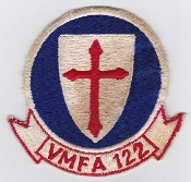 US Marine Corps Aviation Fighter VMFA 122 Squadron Patch Vietnam