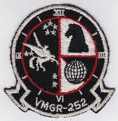 US Marine Corps Aviation Refuelling VMGR 252 Squadron Patch