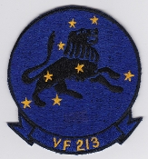 US Navy Aviation Patch Fighter VF 213 Squadron F 14 Tomcat 1970s
