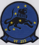 US Navy Aviation Patch Fighter VF 213 Squadron F 14 Tomcat 1980s