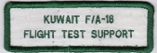 KAF Patch Sqn Kuwait Air Force FA 18 Flight Test Support Badge