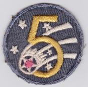 US Army Air Force Patch United States 5 AAF 1942 Australian made