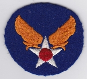 US Army Air Force Patch United States AAF 1942 Wool