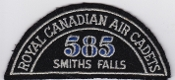 RCAFAC Patch Title Royal Canadian Air Cadets 585 Squadron