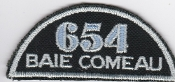 RCAFAC Patch Title Royal Canadian Air Cadets 654 Squadron
