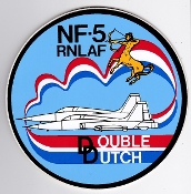 RNLAF Patch Sticker Zap Display Royal Netherlands Air Force NF5