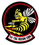 USAF Sticker Patch Recon USAFE 1 TRS Tac Recon Squadron F4 Zap
